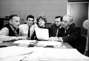 Goddard Lieberson, Sergio Franchi, Elizabeth Allen, lyricist Stephen Sondheim, a