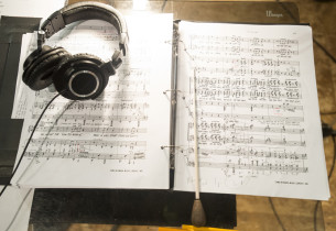 Still life of the score in the studio (Photo: C. Taylor Crothers, © 2012 Sony Mu