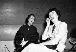 Anita Loos enjoying a moment of mirth with Yvonne Adair