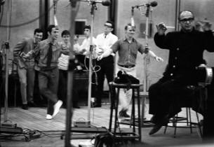 Left to right: Danny Carroll, Joel Grey, James Dybas, John Mineo, Roger Braun, a