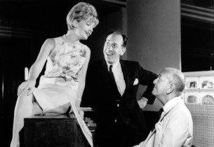 Florence Henderson, José Ferrer and Noel Coward in a pre-production shot
