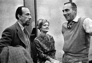 José Ferrer and Florence Henderson with record producer Goddard Lieberson