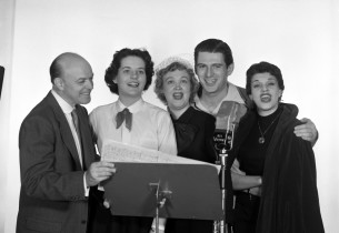 RCA A&R Executive Henri René, Priscilla Gillette, Bibi Osterwald, Stephen