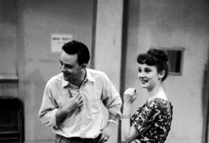Stephen Sondheim and Sandra Church (Photo: Vernon Smith)
