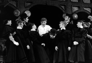 Tommy Steele and the cast perform