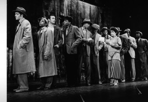 Allen Case, Billy Dee Williams and Marilyn Cooper and cast