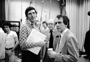 Marvin Hamlisch and show producer Joe Papp
