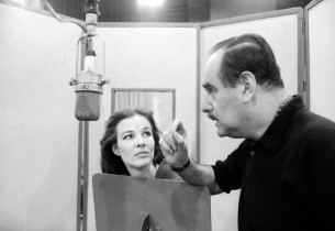 Janice Rule and recording engineer Fred Plaut (Photo: Don Hunstein)