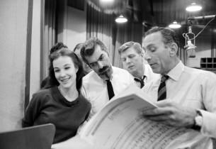 Janice Rule, Michael Kermoyan, John Napier, and record producer Goddard Lieberso
