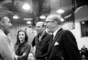 Goddard Lieberson, Janice Rule, Robert DeCormier (musical director), and Cyril R