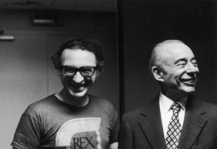 Lyricist Sheldon Harnick and composer Richard Rodgers