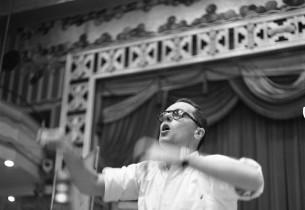 Music conductor Hal Hastings