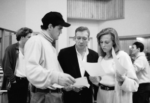 Michael F. Park, composer Michael John LaChiusa and Carolee Carmello (Photo: Joa