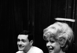 Composer Jerry Herman and star Carol Channing   Photo: Henri Dauman