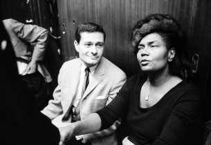 Jerry Herman and Pearl Bailey (Photo: Henri Dauman)