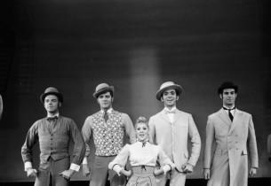 Sondra Lee and four gentlemen of Yonkers (Richard Crowley, Joe McWherter, Ron Yo