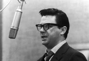 "Bob Holiday recording ""The Strongest Man in the World..."""