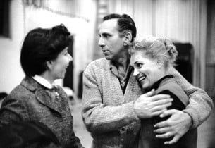 Betty Comden, Goddard Lieberson and Judy Holliday