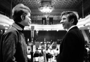 Marlyn Mason with composer Elmer Bernstein (Photo: Henri Dauman)