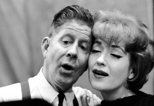 """Rudy Vallee and Virginia Martin cooing """"Love from a Heart of Gold"""""""