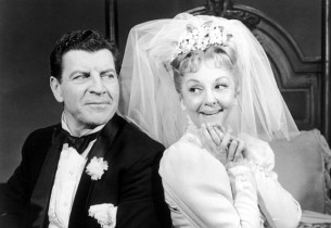 Robert Preston and Mary Martin as newlyweds