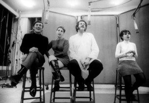Shawn Elliott, Alice Whitfield, Mort Shuman and Elly Stone  (Photo: Don Hunstein