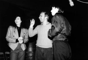 Debbie Gravitte, Stephen Sondheim and Charlotte d'Amboise
