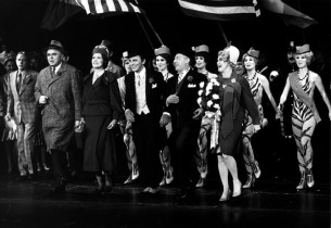 Frank Gorshin and Julie Wilson leading the cast in a spirited number. (Photo: Fr