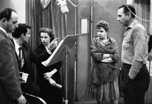 Monte Amundesen, Shirley Booth and Goddard Lieberson (Photo: Don Hunstein)