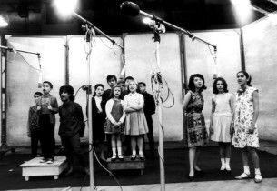 The Children during the recording session (Photo: Hank Parker)
