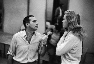 Record producer Goddard Lieberson and Joan Diener (Photo: Guy Gillette)