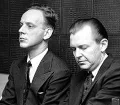 The show's composers, Robert Wright and George Forrest (Photo: Guy Gillette)