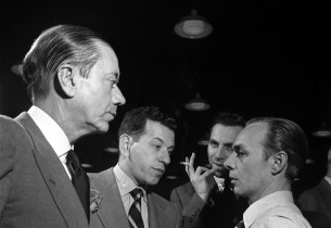 Cole Porter, record producer Manny Sachs, Goddard Lieberson, and music direc