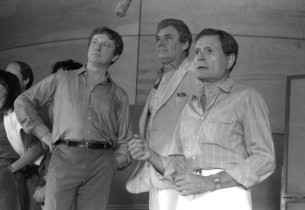 George Hearn, Gene Barry and Jerry Herman