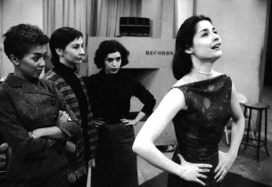 Left to right: Elizabeth Taylor, Carmen Gutierrez, Marilyn Cooper and Carol Lawr