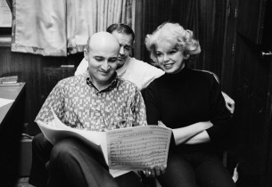 Record producer George Avakian and Barbara Nichols