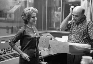 Paula Stewart and record producer George Avakian