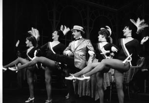 Left to right: Barbara Sharma, Barbara Beck, Sid Caesar