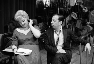 Nancy Andrews and Cy Coleman (Photo: Marvin Lichtman)