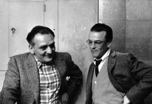 Composer Frederick Loewe and lyricist Alan Jay Lerner