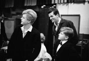Angela Lansbury, Frankie Michaels, and Jerry Lanning