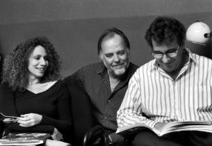 Julia Migenes, music director Paul Gemignani, and Placido Domingo