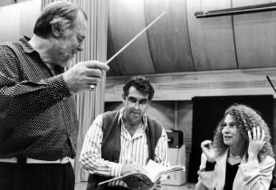 Paul Gemignani, Placido Domingo, and Julia Migenes