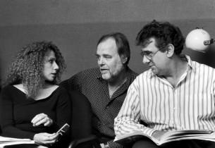 Julia Migenes, Paul Gemignani, and Placido Domingo