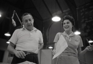 Music director Charles Sanford and Doretta Morrow (Photo: Don Hunstein)