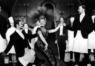 Mary Martin and Waiters (