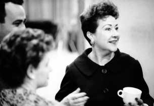 Richard Seff, Ruth Mitchell (Production Stage Manager of GYPSY) and Ethel Merman