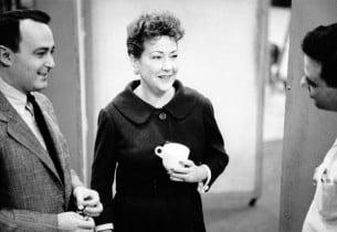 Richard Seff, Ethel Merman, Stephen Sondheim (Photo: Vernon Smith)