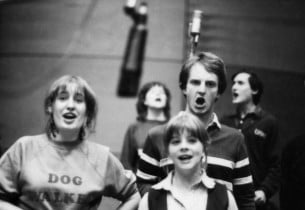 Liz Callaway, Mary Johanson, Clark Sayre, Steven Jacob (with glasses); in backgr