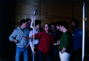 Left to right: James Bonkovsky, Clark Sayre, Gary Stevens, Abigail Pogrebin, Dav